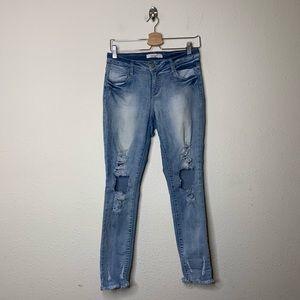 Pello Jeans Distressed Skinny Jeans